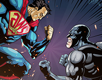 AWS Vs Azure: Comic book illustrated infographic