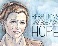 General Organa | Carrie Fisher Tribute Art