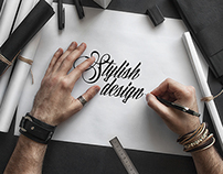 Stylish and Organic Sketch Mock-Up