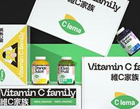 《C LE MA》维C家族包装系列 果汁饮料包装