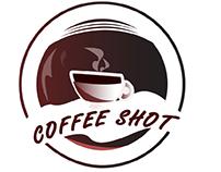 illustrated cafe,coffee and orange juice logo design
