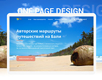 Webdesign for Bali travel agency
