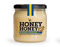 Svensk Honungsförädling. Etikettdesign.