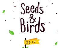 Seeds and Birds Calendar Template