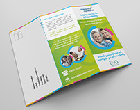 Trifold marketing literature with tear-off