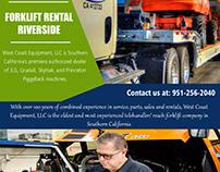 Forklift Rental Riverside||westcoastequipment.us||1-951