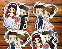Wedding Cartoon Character