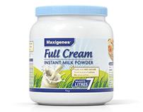 Maxigenes Milk Products 3D Rendering
