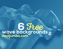 6 Free Wave 3D Backgrounds 2