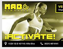Promotional pieces MAB gym