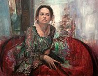 Retrato de Emmanuelle. Oil on canvas 100 x 81 cm
