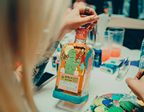 Intervención botellas de tequila Olmeca