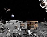 Construction on Moon