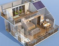 Upper deck cabin concept