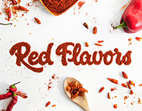 Red Flavors visual identity