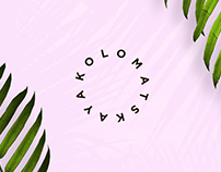 "Logo for accessory designer ""KOLOMATSKAYA"""