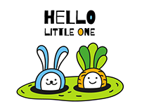 Hello Little One / Funny bunny and carrot characters