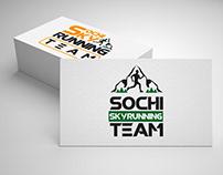 SOCHI SKYRUNNING TEAM logotype design