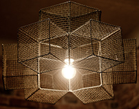 Snowflake cage chandelier