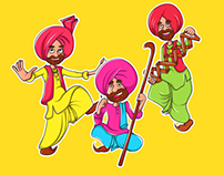 Rangle Punjabi Stickers