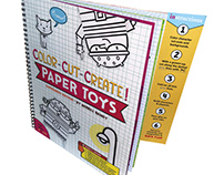 + Color - Cut - Play! Paper Toy activity book