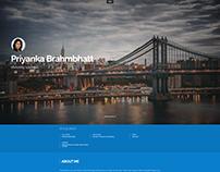 Portfolio website User interface