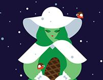 Christmas Card. Illustration.