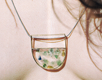 "Necklace "" Seaglass """