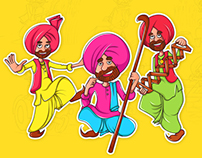 Rangle Punjabi Stickers Design