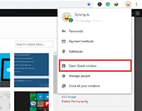 enable and use Guest Window browsing in Google Chrome
