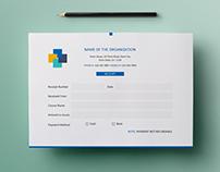 Free Simple A5 Landscape Invoice / Money Receipt Design