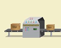 Conveyer belt illustration for Fiverr