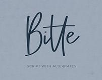 Bitte Handwritten Script