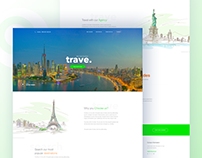 Trave : Travel Agency Landing page