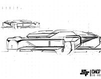 Experimental Sketching - Scifi Car E42