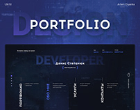 Developer portfolio – design
