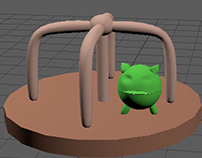 Merry go round and baby monster 3D model