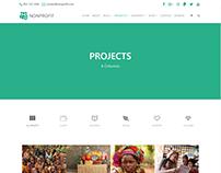 Projects 4 Columns Page - Nonprofit WordPress Theme