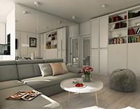 White apartment. Poland