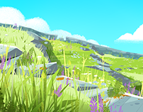 Personal Illustration: Bright Meadow