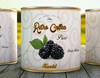 Retro Coffee Ambalaj ve Logo Tasarımı