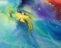 Converging Nebulae mixed media