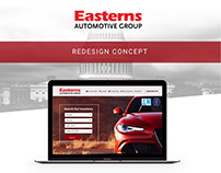 Easterns Automotive Website Redesign Concept