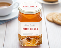 Honey County | Packaging Label Design