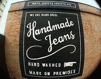 """""""Handmade Jeans"""" Hand Lettering"""