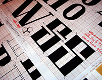 Retour Typeface, em desenvolvimento.