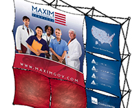 Maxim Government Services 3x3 Booth Design
