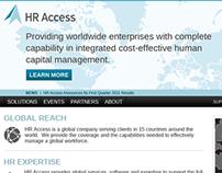 HRAccess Corporate Website Design Concept 01