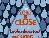 Rain of Tears - Comforting bible verse Psalms 34:18