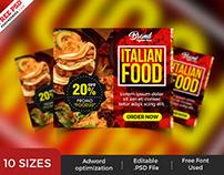 Restaurant Advertising Banners PSD Set